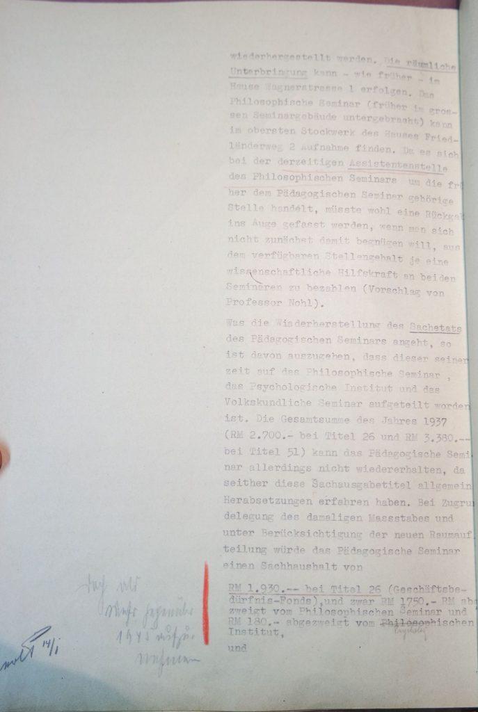Herausforderungen bei der Wiedereinrichtung des Pädagogischen Seminars 1945, Seite 2