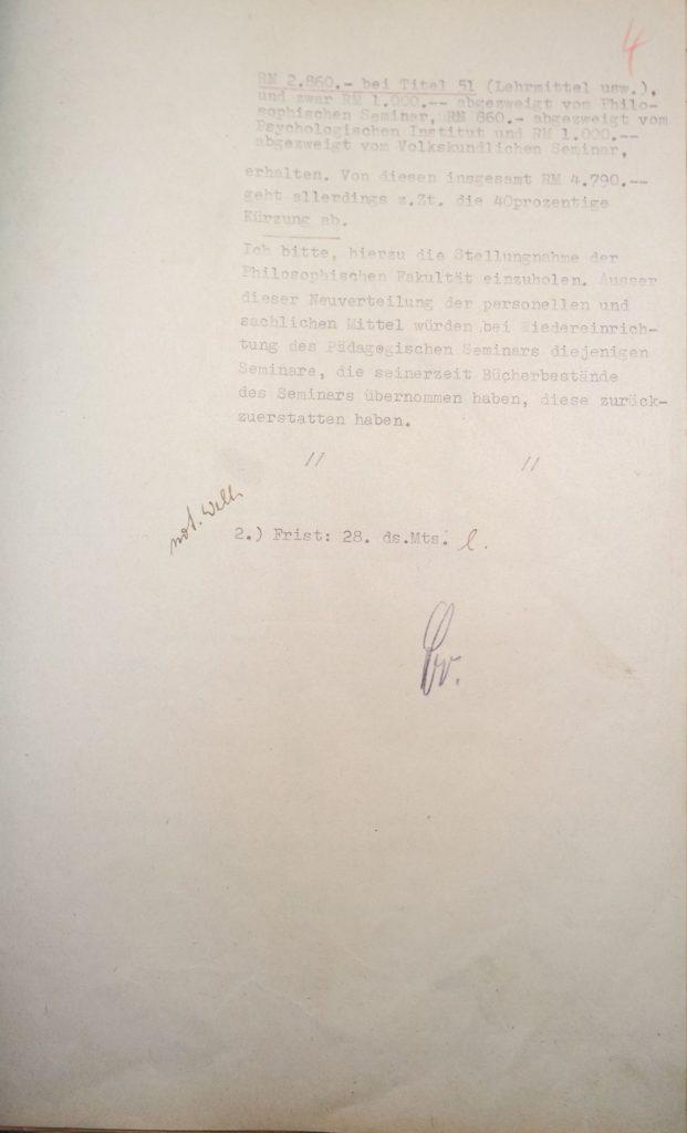 Herausforderungen bei der Wiedereinrichtung des Pädagogischen Seminars 1945, Seite 3