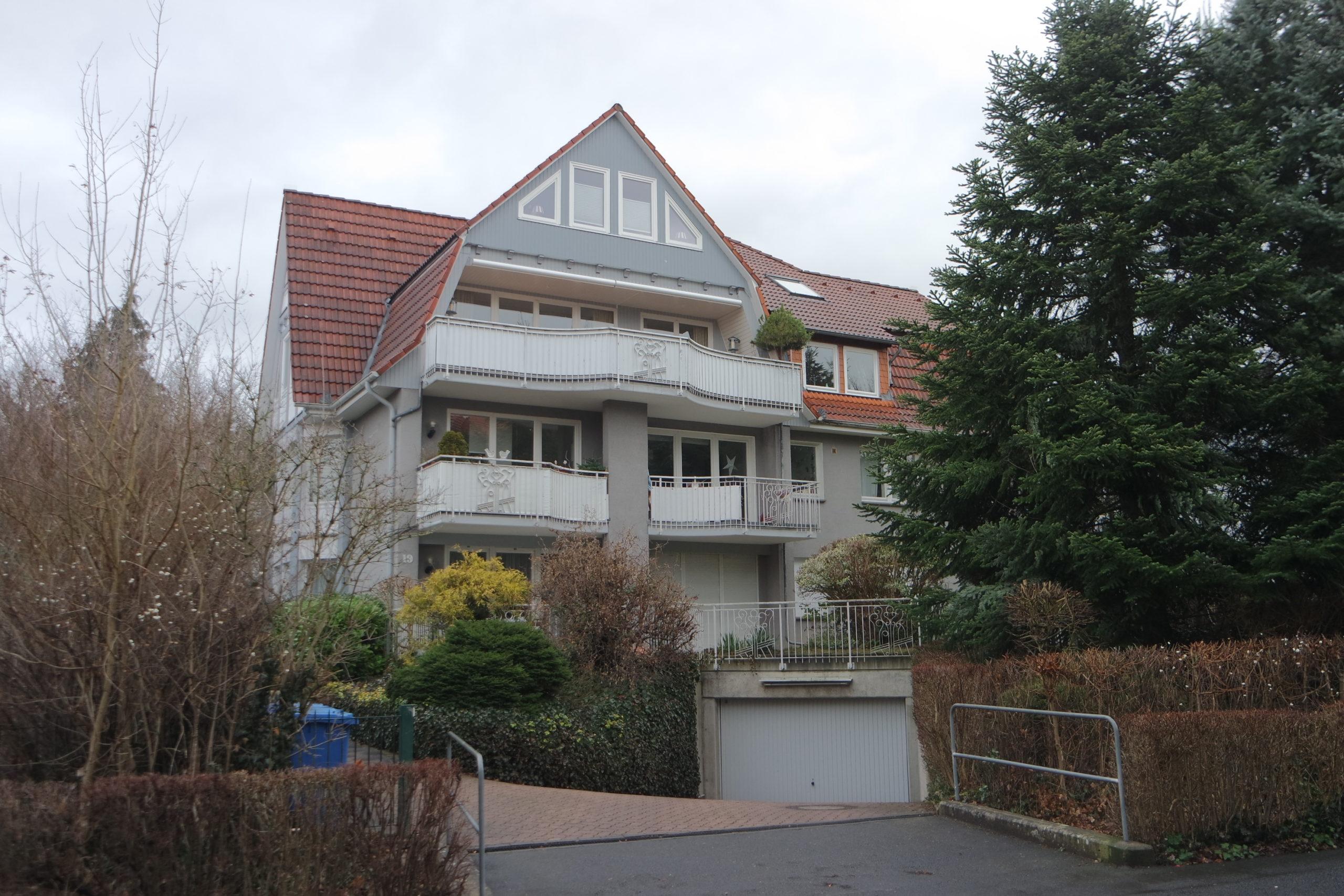 Frontansicht des Hauses im Hainholzweg 19 in Göttingen. Foto: Daniel Erdmann, 2020.