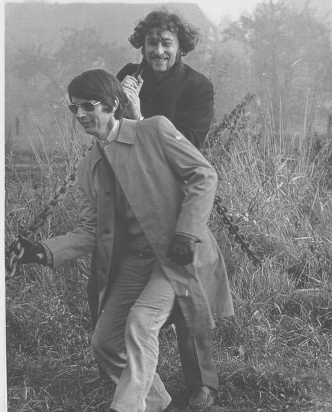 Micha Brumlik (rechts) und Christian Rittelmeyer (links), ca. 1980