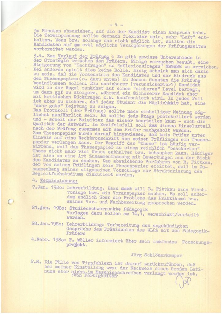 Protokoll der Mitarbeiterversammlung vom 03.12.1979