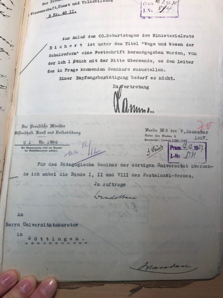 Aufstockung des Pädagogischen Seminars mithilfe des preußischen Minsters